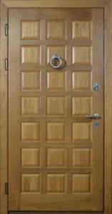 Дверь с отделкой массивом дуба №04