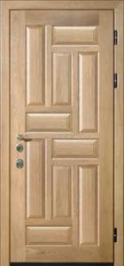 Дверь с отделкой массивом дуба №06