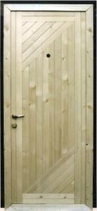 Стальная дверь с вагонкой №3