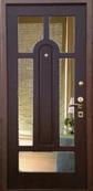 Стальная дверь с зеркалом №1