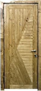 Стальная дверь с вагонкой №4