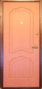 Стальная дверь с отделкой МДФ №02