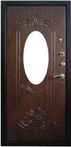 Стальная дверь с зеркалом №2