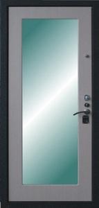 Стальная дверь с зеркалом №3