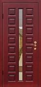Стальная дверь с зеркалом №4