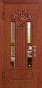 Стальная дверь с зеркалом №5