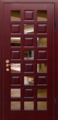 Стальная дверь с зеркалом №8