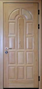 Дверь с отделкой массивом дуба №10