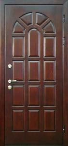 Дверь с отделкой массивом дуба №11